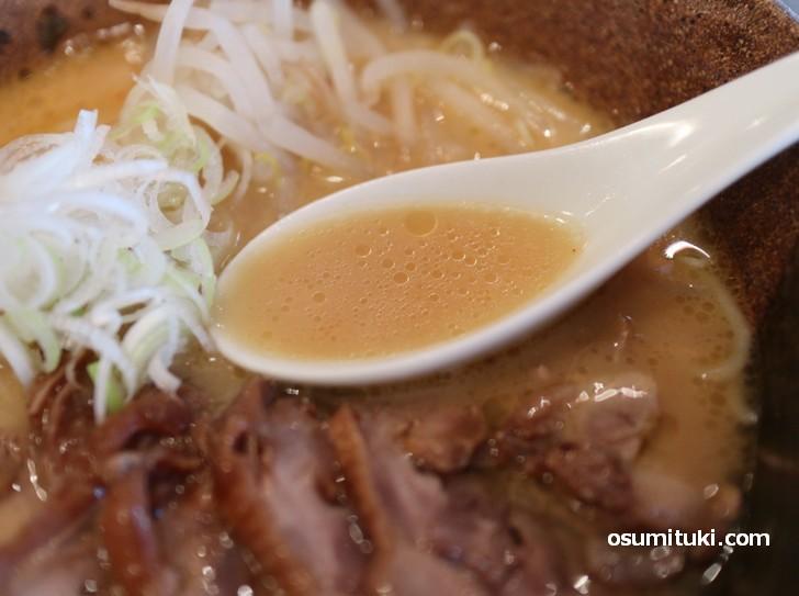 スープが美味しくて最後まですすってしまいました(味噌ラーメン)