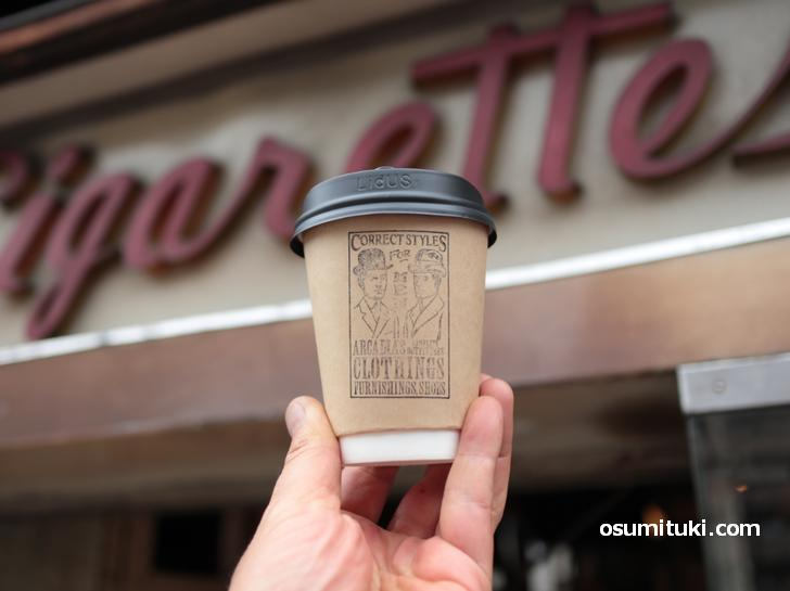 コーヒーはストロング、お店の雰囲気と同じ味わい