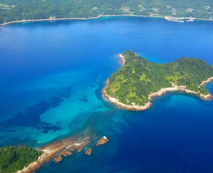五島列島の沿海は急に深度が深くなり、美味しい甲殻類が穫れる場所です
