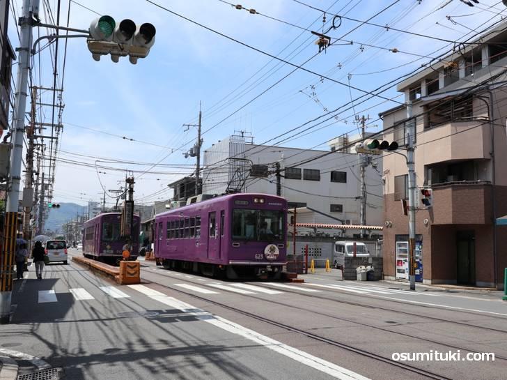 タモリさんは嵐電「山ノ内駅」で下車したのは確実でしょう