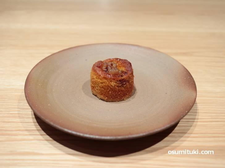 自家製の焼き菓子(タルト)も食べることができます