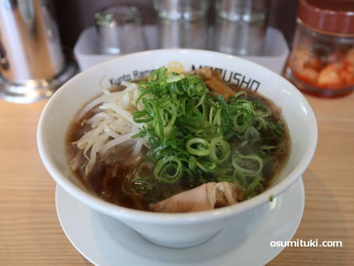 麺処 丸昌 吉祥院店のアキラ系と呼ばれる京都豚骨醤油