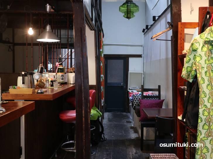 フィンランドカフェ ポーヨネン、京町家を改装したカフェです