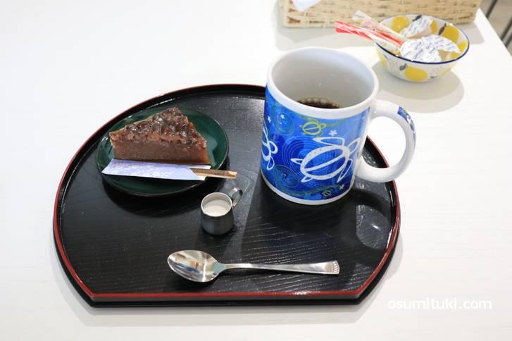 和菓子とドリンクセット(500円)