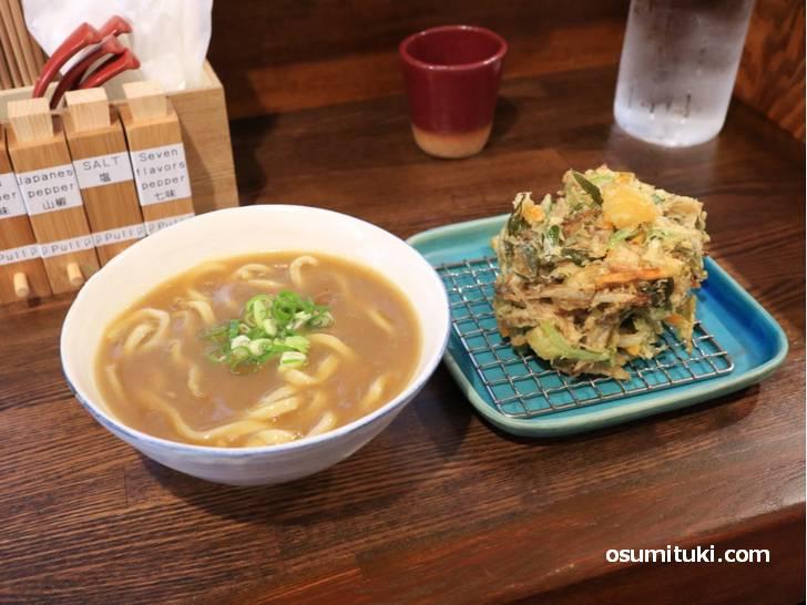 九条ねぎかきあげ天カレーうどん(900円)