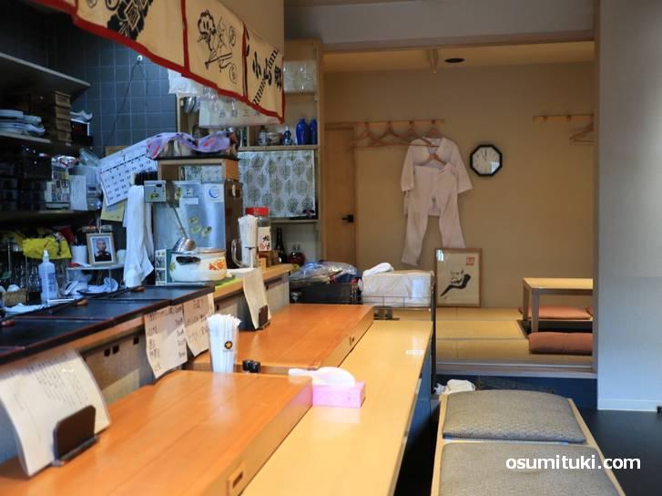 西院の寿司店「多津美」さんで修行し、上桂で独立して和食店を開業(シールーム)