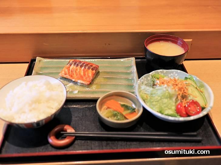 サーモン御膳(レモンバター味)