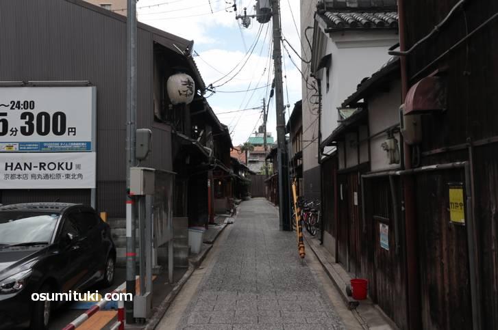 スタート地点がこちら、実は京都です