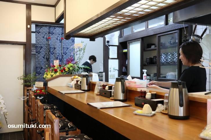 麺処 美松(手指消毒、カウンターのみで透明シールド)