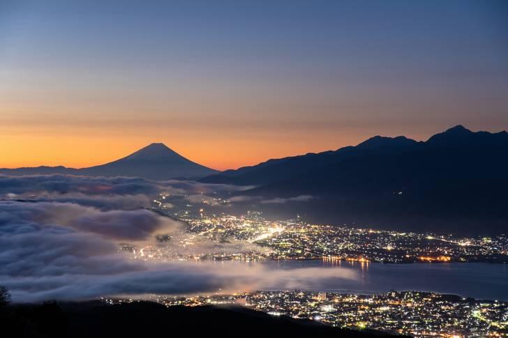 長野県から眺めた富士山