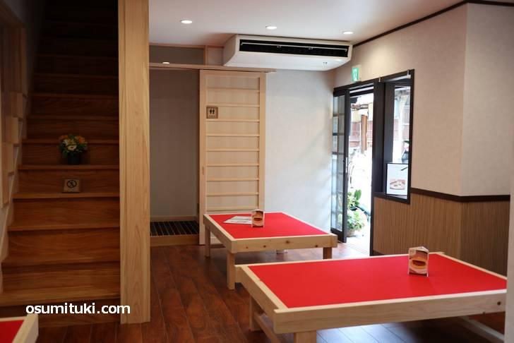 店内はイートインスペースで気楽な雰囲気では入れます(chaya madonna)