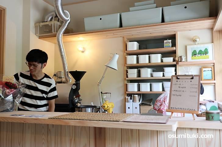 おうちでコーヒーるるる、一乗寺にあるカフェで2019年7月23日開業