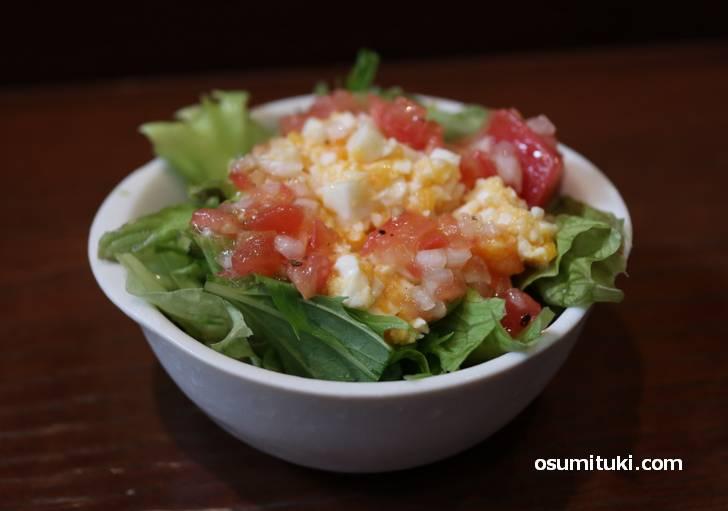 玉子とトマトのサラダ