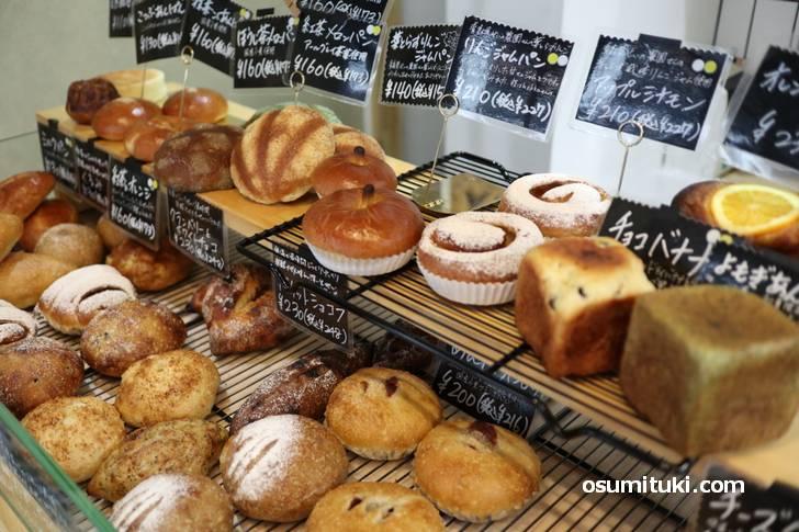 シンプルだけど、どことなくかわいいパンが多めです