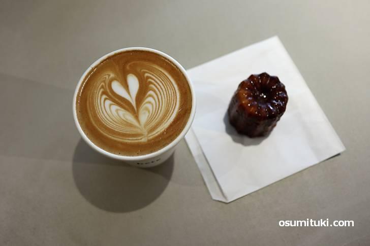 コーヒーとカヌレがテーマのカフェ「here kyoto」