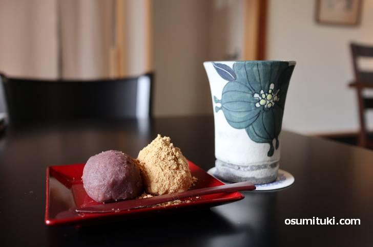 珈琲セット 600円(おはぎ)