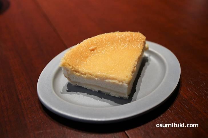 チーズケーキはブラックにちょうど良い甘めのもの