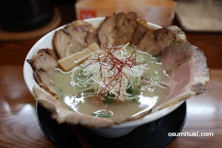 鶏豚骨ラーメン チャーシュー麺 1000円