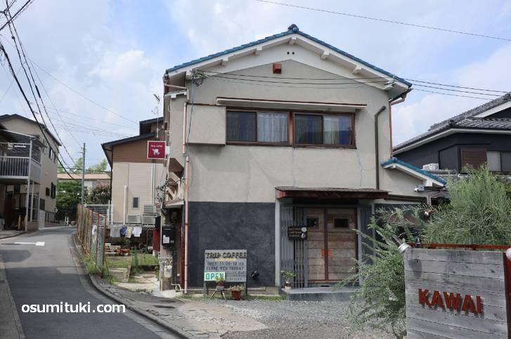 Trip coffee (トリップコーヒー)があるのは「京都市西京区山田」
