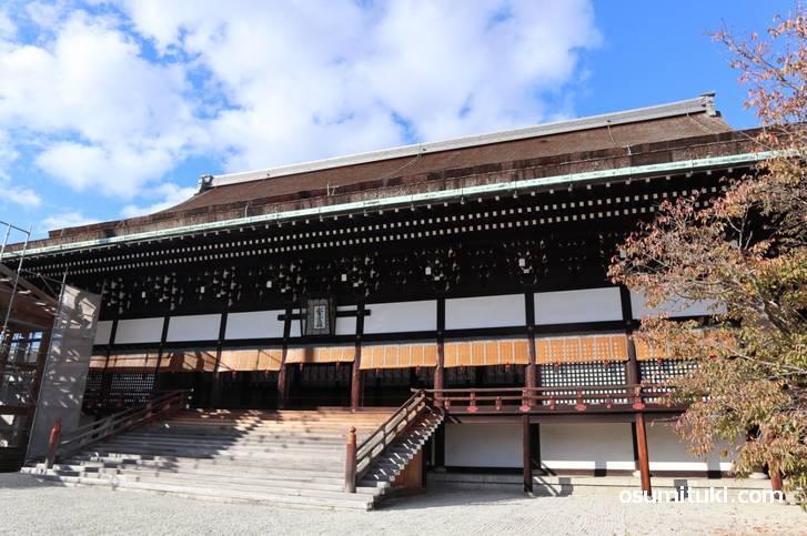 幕末の安政2年(1855年)に再建された紫宸殿(ししんでん)