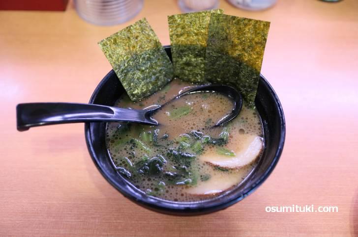 かっぱ寿司で食べる武蔵屋の家系ラーメン