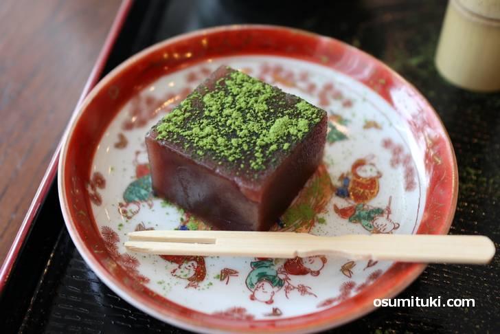 和菓子は水ようかんでした