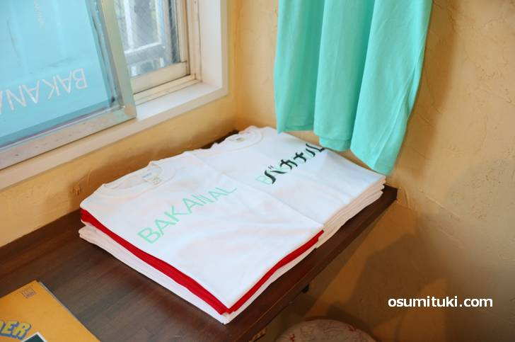 オリジナルTシャツなども販売