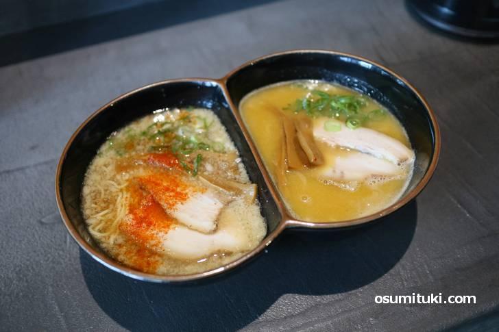 RED&WHITE 1200円(背脂醤油+塩)