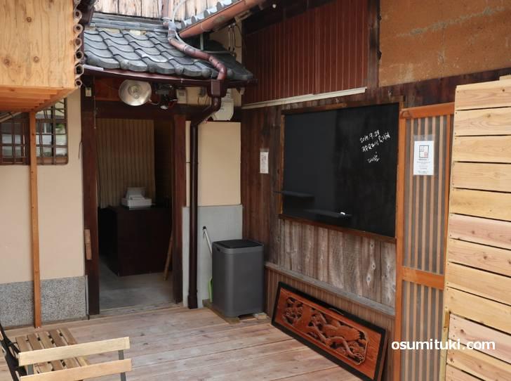 京町家をそのまま使ったカフェ