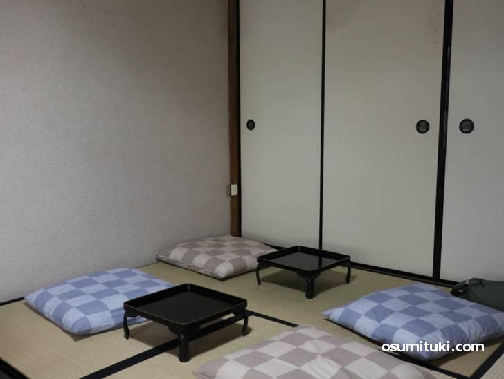 1階左から入った和室
