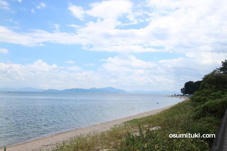 これが琵琶湖の絶景ビーチ(白ひげビーチ)