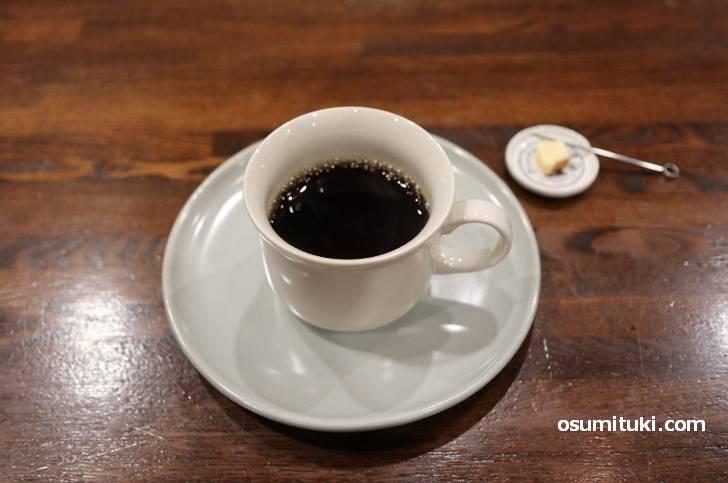 コーヒーはカフェタイム(亀岡市)の焙煎豆を使用