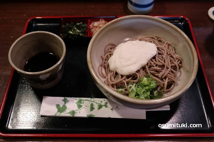 京都で大山蕎麦を食べられるお店は貴重