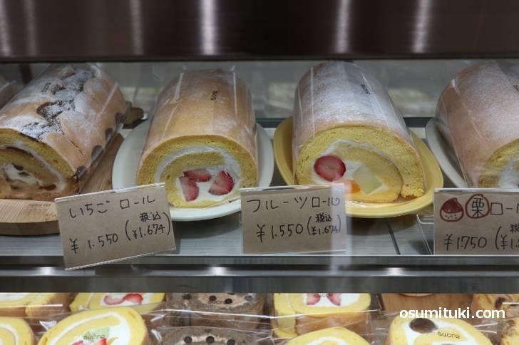 ロールケーキのお店ですが、シフォンケーキやプリンもあります