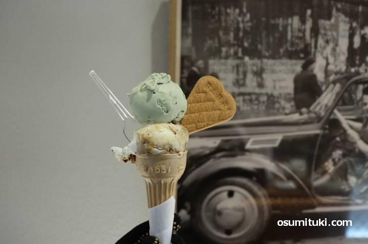 ピスタチオといちじく、美味しいアイスクリームです