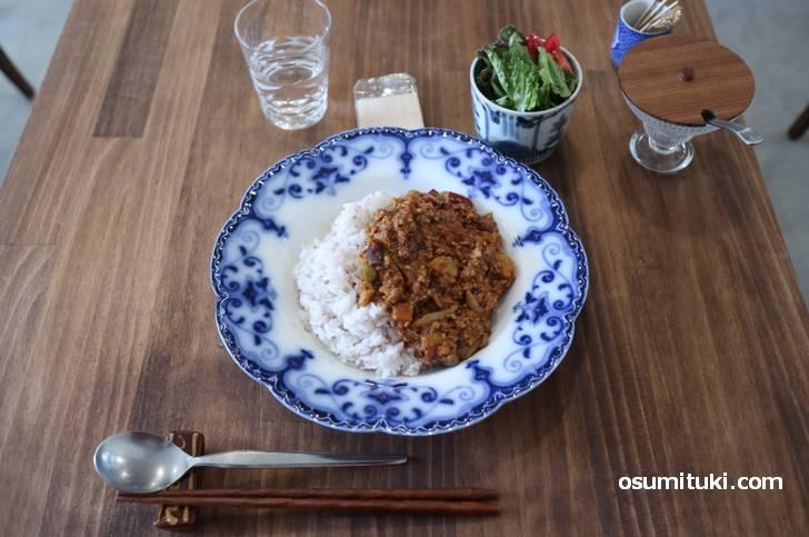 野菜たっぷりのキーマカレー(850円)