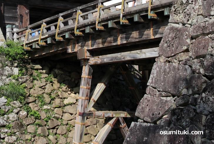 彦根城へ入る橋はすぐに使えなくできるようになっている