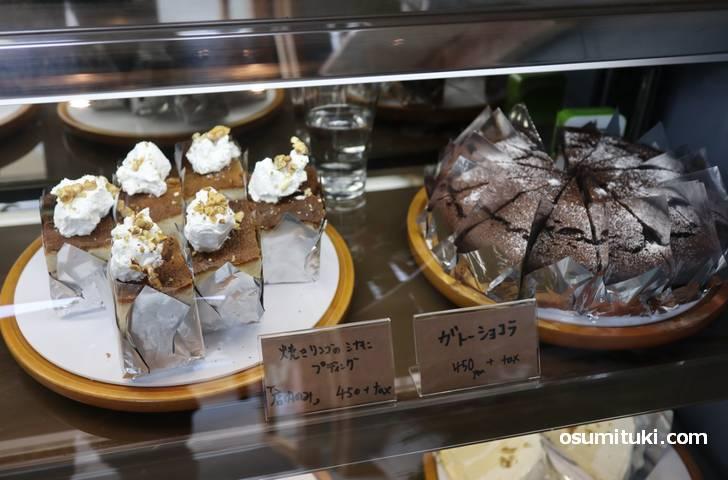 ケーキは6種類ほど、値段は450円です