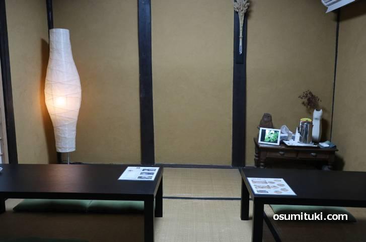 京都らしい和室席(CAFE GREEN DOOR)