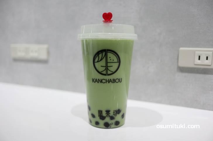 抹茶ミルクティー(450円)+タピオカ(70円)