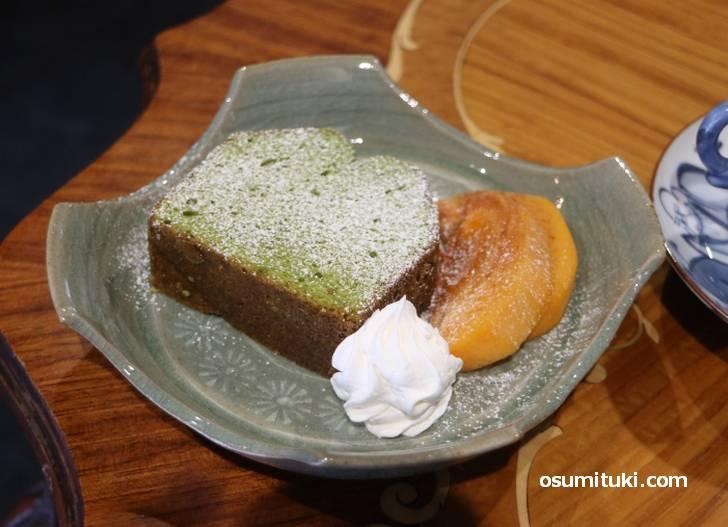 自家製抹茶パウンドケーキ