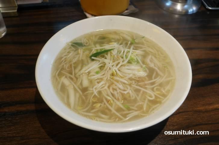 珉珉のタンメン(湯麺)