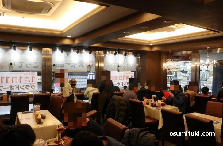 店内はまるで洋風レストランのような天下一品だった!
