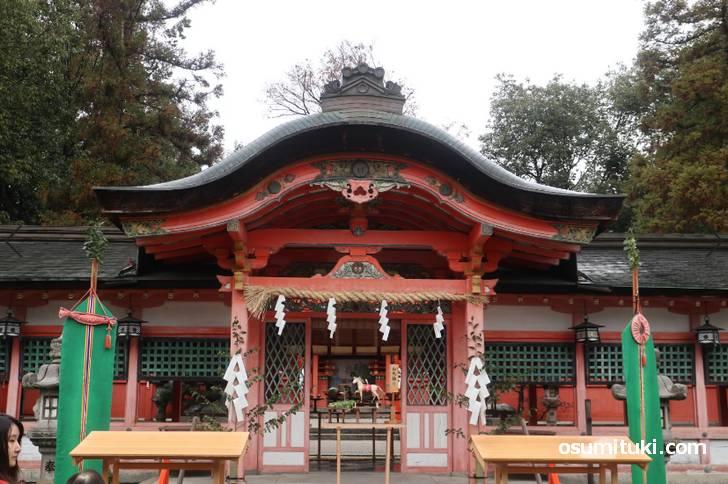 西院春日神社は西院駅から徒歩3分のところにあります