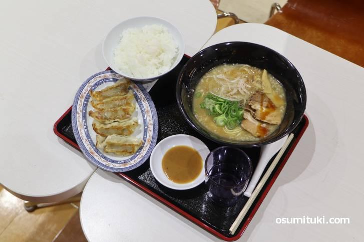 ラクセーヌのフードコートで食べた「麺屋 七福神 ラクセーヌ店」の七福神ラーメン