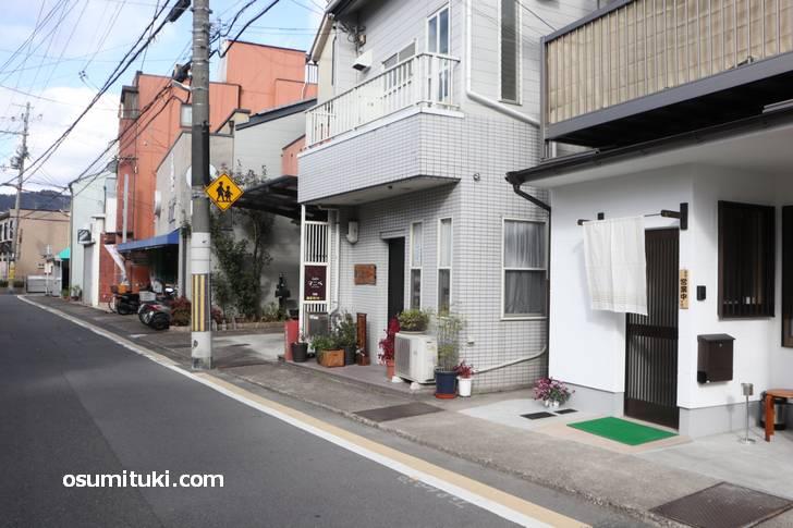 Cafe マニベ の場所は渋谷街道の六兵ェ池を北に上がったところ