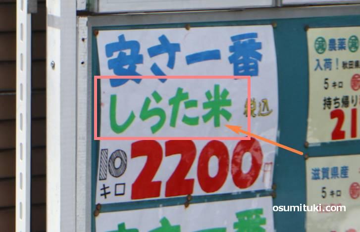 しらた米(しらたまい)とは未熟米で安く売られている場合もあります