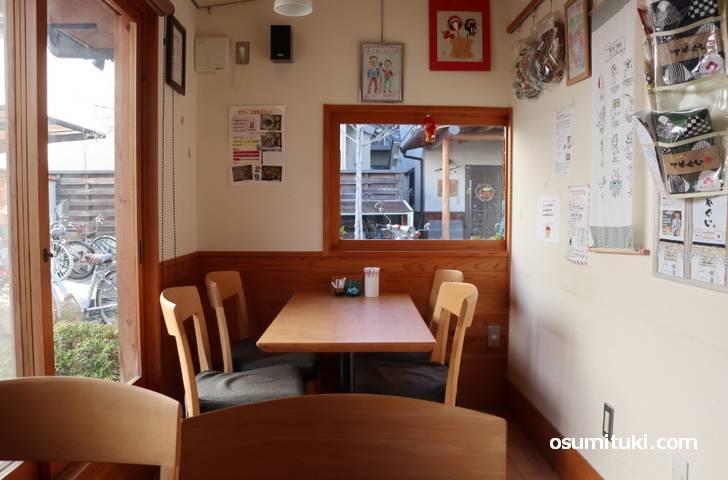 可愛らしいカフェです(カフェ e-ばしょ)