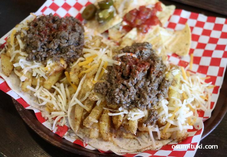 アメリカンタコスにハニーマスタードをたっぷりで食べてみました
