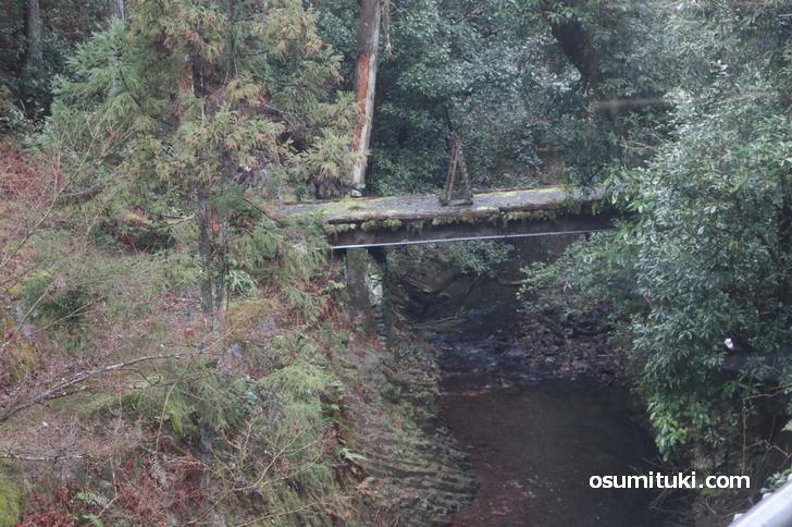 お店は山科音羽川の上流域にあります
